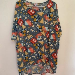 Lularoe Disney geometric Mickey Irma XL